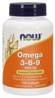NOW Omega-3-6-9 1000 mg kaps.elast. 100kap