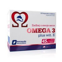 OLIMP OMEGA 3 plus wit. E kaps.miękkie 120