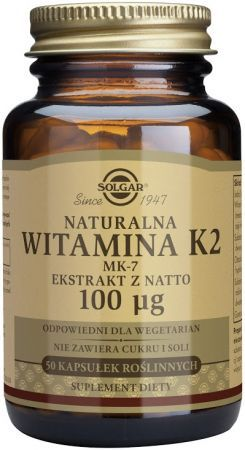 SOLGAR Witamina K2 natural. 50kaps. 0,1mg